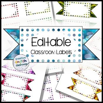 Editable Labels with 24 Polka Bokeh Options