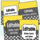 Editable Labels, Binder Covers & Spines - Gold & Charcoal