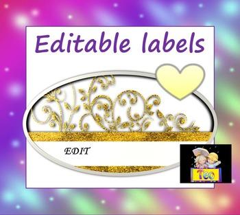 Editable Labels - Glitter