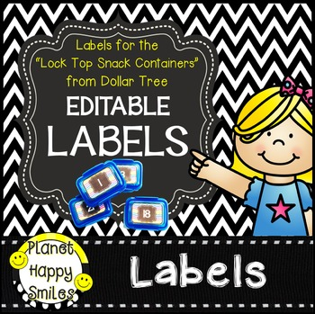 "Chevron Editable Labels ~ Labels for the ""Snack Containers"