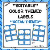 Editable Labels Ocean Theme