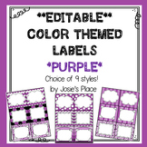 Editable Labels  Purple