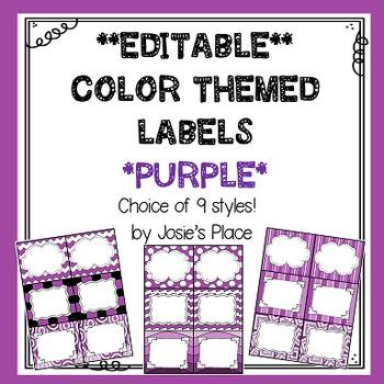 Editable Labels  Purple