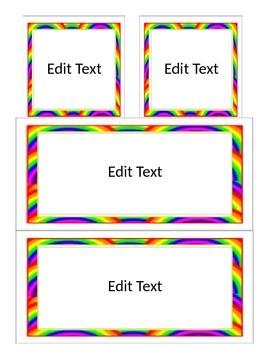Editable Labels - Rainbow