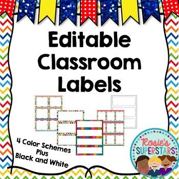 Editable Labels: Rainbow Theme