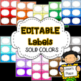 Editable Labels in Solid Colors