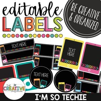Editable Labels - Technology Theme