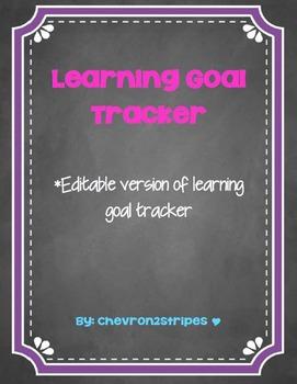 Editable Learning Goal Tracker