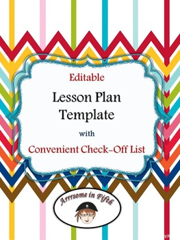 Back to School Editable Lesson Plan Template with Convenie
