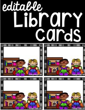 Editable Library Cards