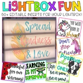 Editable Light Box Designs { Lightbox Growing Bundle}