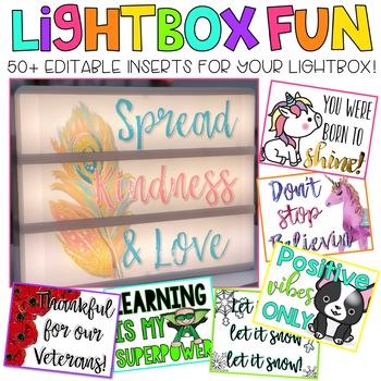 Editable Light Box Designs { Lightbox Growing Bundle}