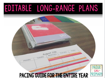Editable Long Range Plans