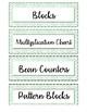 Editable Math Bin Labels