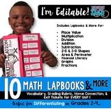 Editable Math Lapbooks & MORE for Grades 2-4