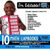 Editable Math Lapbooks & MORE for Grades 2-4