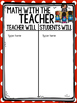 Math Rotation T-Charts {Teacher will, Students will} (Type