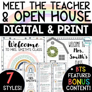 Open House - Back to School Night  (Editable)