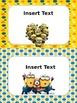 Editable Minions Clip Chart