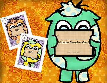 Editable Monster Cards