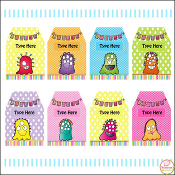Free Editable Monster Tags