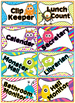 Editable Monster themed Classroom Jobs Clip Chart
