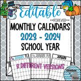 Editable Monthly Calendars 2016-2017