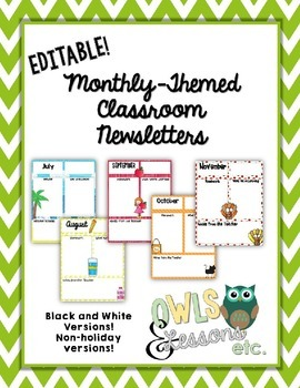 Editable Monthly Newsletters