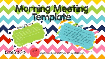 Editable Morning Meeting Power Point Template