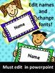 Editable Name Badges/Labels