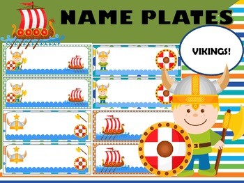 Editable Name Plates and Labels : Vikings
