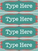 Editable Nameplates & Classroom Labels for Dots on Turquoi