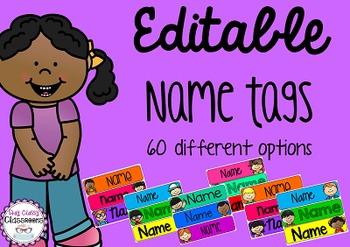 Editable Name Tags - Sidekicks
