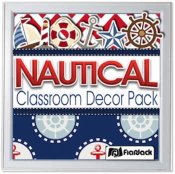 Editable Nautical Classroom Decor Materials Pack