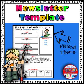 Editable Newsletter Template - Fishing Themed