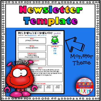 Editable Newsletter Template - Friendly Monster Theme