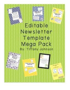 Classroom Newsletter Template Mega Pack