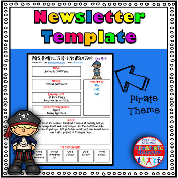 Editable Newsletter Template - Pirate Themed