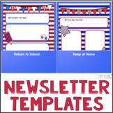 Editable Newsletter Templates, Parent Communication - Patr