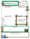 Editable Newsletter w/ a Camping Theme