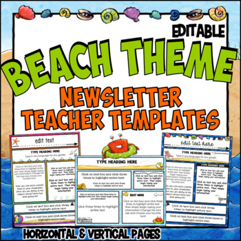 Newsletter Template Ocean Theme- Editable