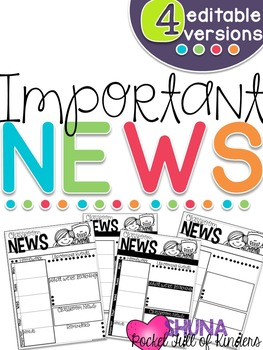 Editable Newsletters {For all year long}