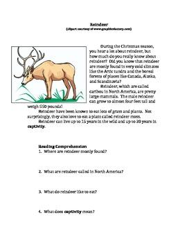 Free Editable Nonfiction: Reindeer