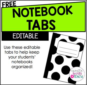 Editable Notebook Tabs