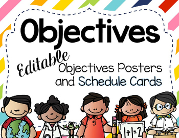Editable Objectives and Schedule Cards