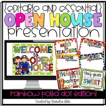 {Editable} Open House Presentation Essentials- Rainbow Pol