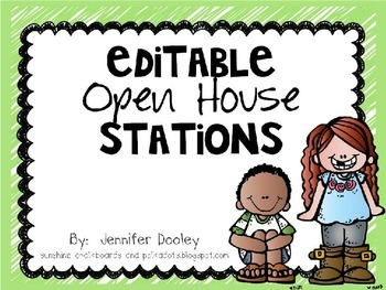 Editable Open House Stations