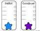 Editable Organization Checklists: Colorful Stars