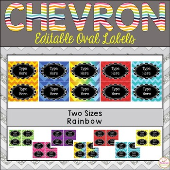 Editable Oval Labels