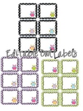 Editable Owl Labels 2